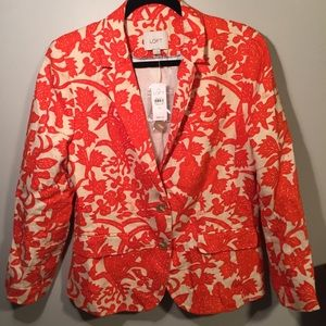 NEW Loft Ann Taylor Jacket Orange - Size 10